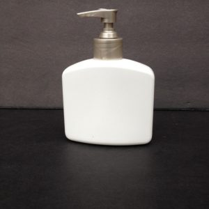 8 oz rectangle hdpe bottle with pump