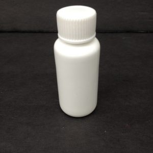 1.25 oz white bottle hdpe plastic with screw cap